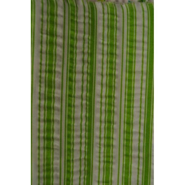 Povlečení krepové proužek zelený 140x200 cm
