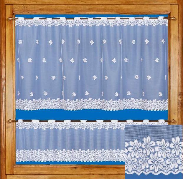 Záclona FLORA 30cm, 50cm, 70cm bez obšití 30